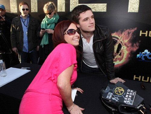Josh at The Hunger Games LA 'The Hob' shabiki Event