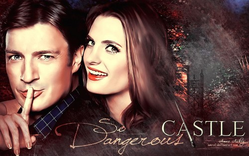Nathan Fillion & Stana Katic wallpaper possibly with a portrait titled Nathan & Stana as Rick & Kate