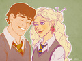 Luna and Neville - neville-and-luna fan art