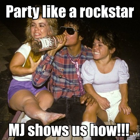 MJ knows how to party like a rockstar!