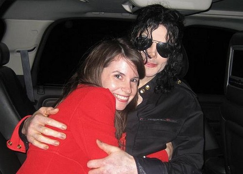 Michael Jackson with his peminat