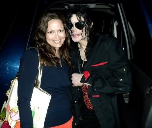 Michael Jackson with his fan