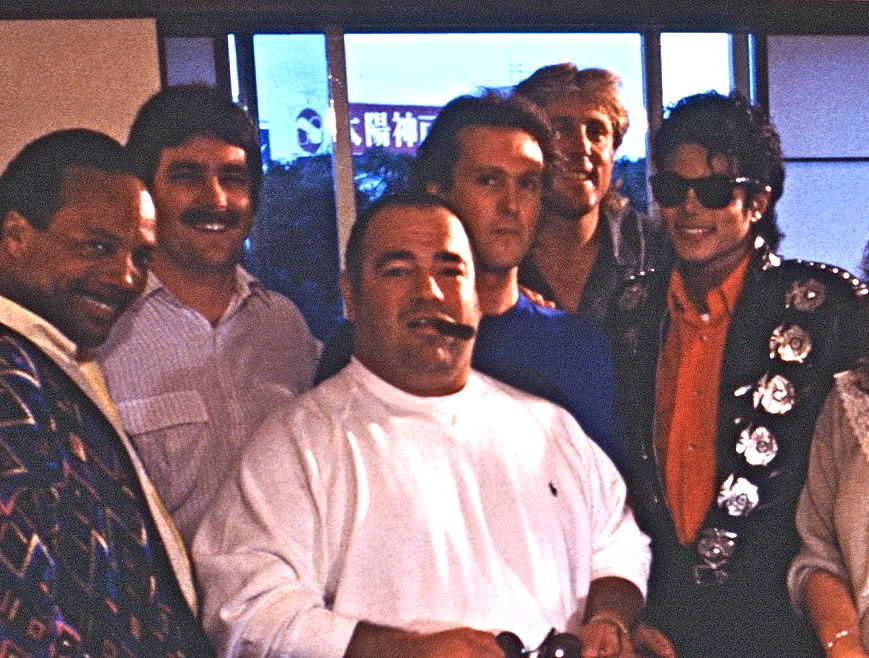 Michael Jackson with his fans
