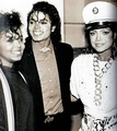 Michael Jackson with his sisters Janet and Latoya Jackson - michael-jackson photo