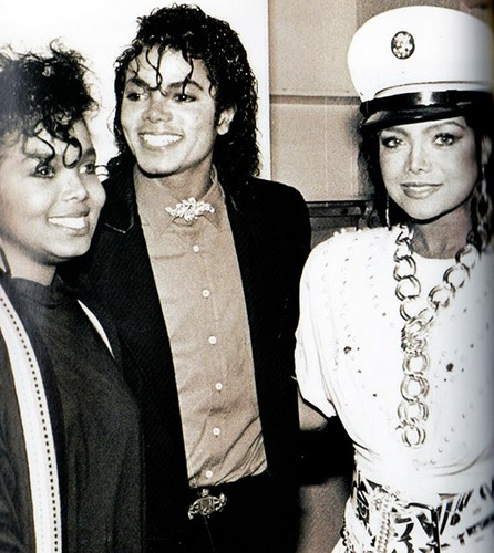 Michael Jackson with his sisters Janet and Latoya Jackson