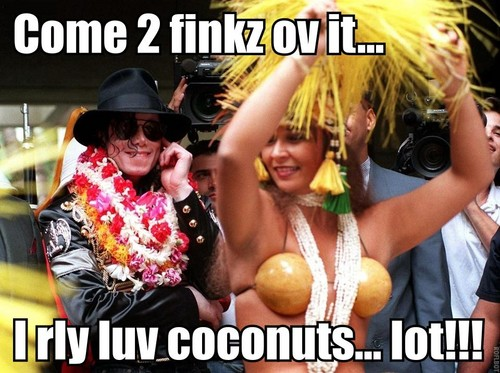 Michael suddenly remembers how much he loves coconuts!