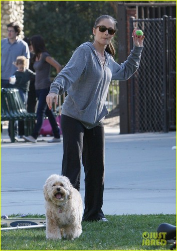 Minka Kelly Plays With Chewy at the Park