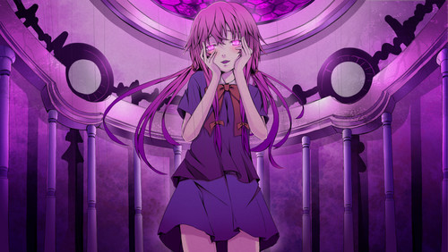 mirai nikki karatasi la kupamba ukuta possibly containing a stained glass window and a pew called Mirai Nikki ♥