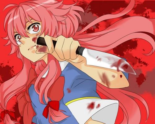 mirai nikki wallpaper containing anime titled Mirai Nikki ♥