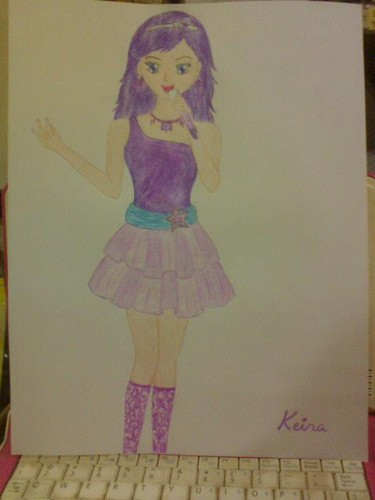 Sinema za Barbie karatasi la kupamba ukuta titled My drawing of Keira