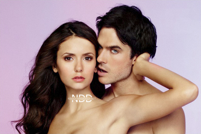 Damon & Elena wallpaper containing skin entitled NEW PHOTOS FROM EW WEEKLY!