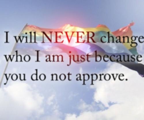 LGBT 壁纸 entitled Never Change