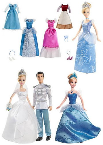 Disney Princess wallpaper possibly containing a bridesmaid and a dinner dress called New 2012 Mattel Cinderella dolls