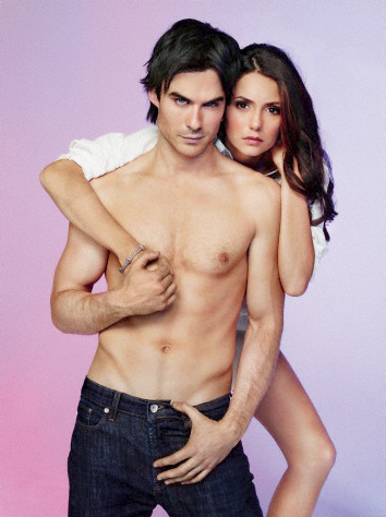 Vampire Diaries karatasi la kupamba ukuta containing a hunk and skin entitled New EW Photoshoot Pics