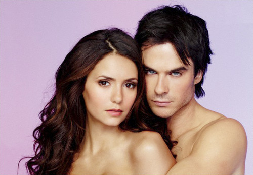 The Vampire Diaries kertas dinding with skin titled New EW Photoshoot Pics