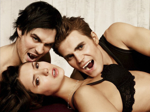 Vampire Diaries karatasi la kupamba ukuta with skin entitled New EW Photoshoot Pics