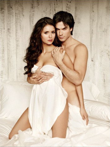 The Vampire Diaries پیپر وال containing skin entitled New EW Photoshoot Pics