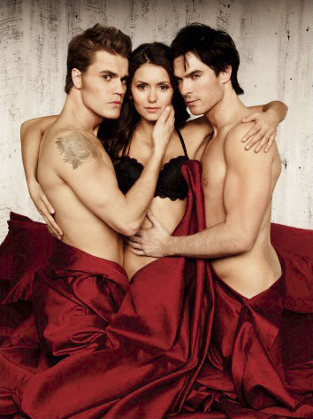 Vampire Diaries karatasi la kupamba ukuta possibly with skin entitled New EW Photoshoot Pics