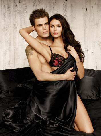 the vampire diaries tv tampil wallpaper probably containing a makan malam dress, a koktil, koktail dress, and a strapless titled New EW Photoshoot Pics