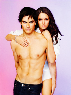 Ian Somerhalder and Nina Dobrev wallpaper probably with a hunk, a six pack, and skin entitled Nian EW Photoshoot