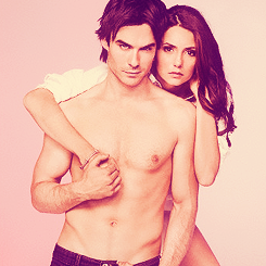 Ian Somerhalder and Nina Dobrev wallpaper containing a hunk and skin titled Nian EW Photoshoot