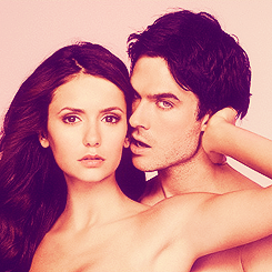 Ian Somerhalder and Nina Dobrev wallpaper containing skin and a portrait called Nian EW Photoshoot