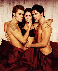 Ian Somerhalder and Nina Dobrev wallpaper containing skin called Nian EW Photoshoot