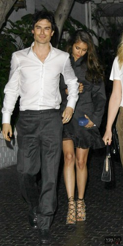 Nina and Ian leaving Paleyfest 10th March 2012