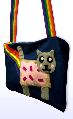 Nyan Cat wallpaper with a shoulder bag titled Nyan Cat Bag
