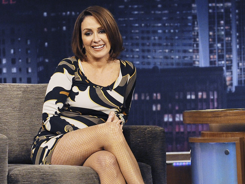 Patricia Heaton Hintergrund with bare legs, hosiery, and tights titled Patricia Heaton