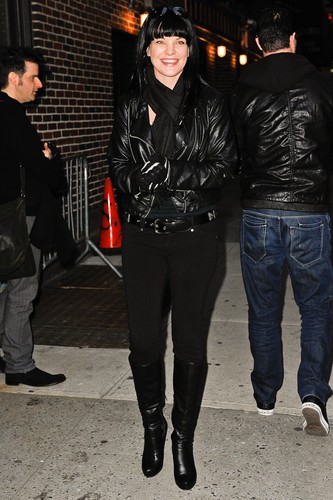"Pauley Perrette arrives at ""Late Show With David Letterman"" on February 28. - pauley-perrette Photo"