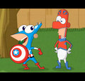 Phineas and Ferb Marvel Superheroes - phineas-and-ferb fan art