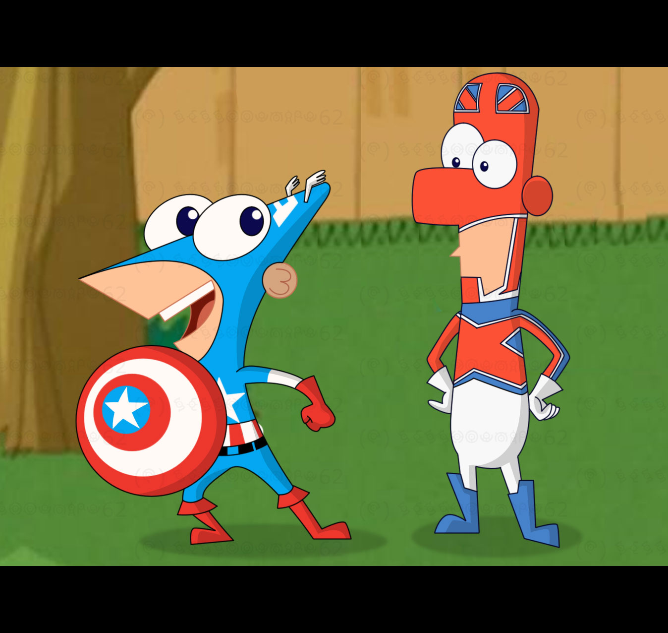 Phineas and ferb phineas and ferb marvel superheroes