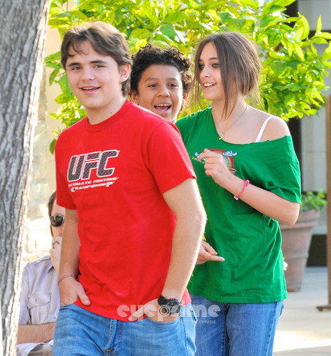 Prince, Jermajesty and Paris Jackson at the pelikula in Calabasas