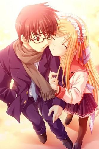 Cute anime couple <3