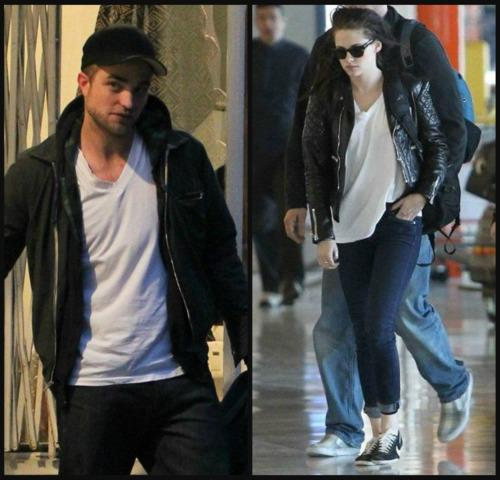 Robsten wearing the same рубашка