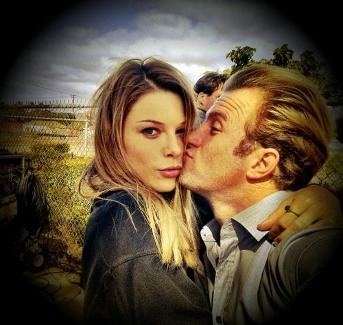 Scott Caan and Lauren German