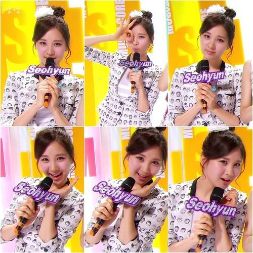 Seohyun TaeNyHyun MCing âm nhạc Core Screencap