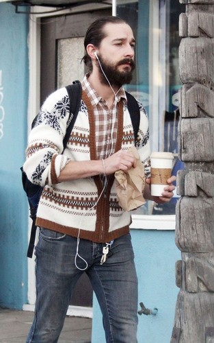 Shia LaBeouf: Bearded Coffee Break