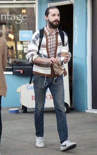 Shia LaBeouf: Bearded Coffee Break