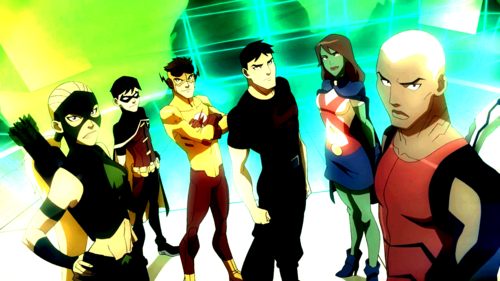 Young Justice wallpaper containing anime entitled Shiny Justice