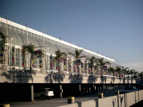 Sideview of the San Diego Convention Center
