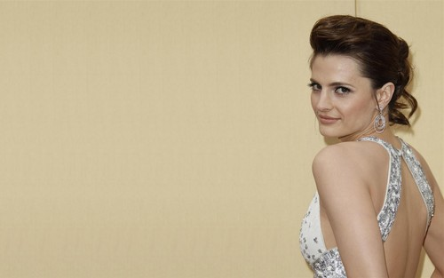 Stana Katic achtergrond probably containing a portrait called Stana <3