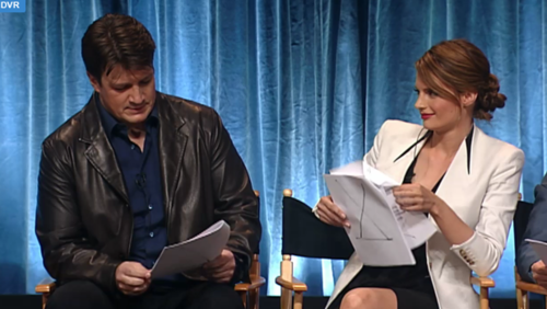 Stana and Nathan on PaleyFest 2012