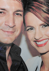 Nathan Fillion & Stana Katic fond d'écran with a portrait entitled Stanathan <33