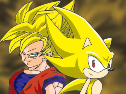 Super Sonic And SSJ goku