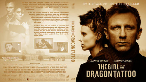 The Girl With The Dragon Tattoo 2011 Blu луч, рэй Front Cover