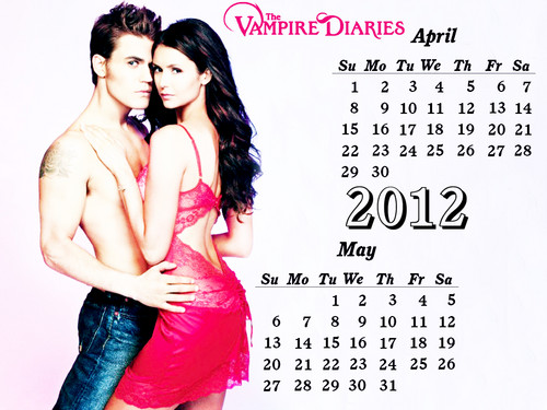 The Vampire Diaries April,May Calender2012 spl edition created سے طرف کی me!!!:)