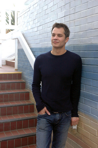 Timothy Olyphant wallpaper possibly containing a front porch, a window box, and a bannister called Timothy Olyphant
