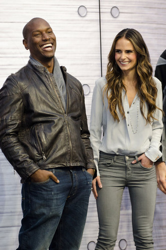 Tyrese Gibson and Jordana Brewster, stars of Fast Five on Blu-ray, Fast Five 225, September 15, 2011